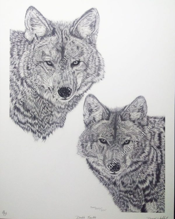 Double Trouble | Wolf Print
