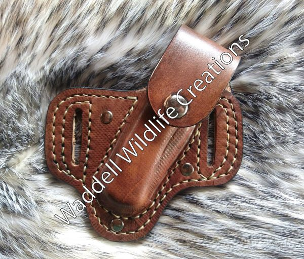 Buck Knife Sheath with Snap - Front - Closed