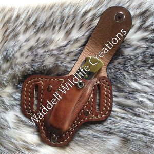 Buck Knife Sheath with Snap - Front - Open
