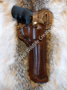 Dan Wesson 44 Magnum Double Belt Loop Custom Leather Holster