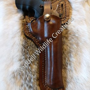 Dan Wesson 44 Magnum Double Belt Loop Custom Leather Holster