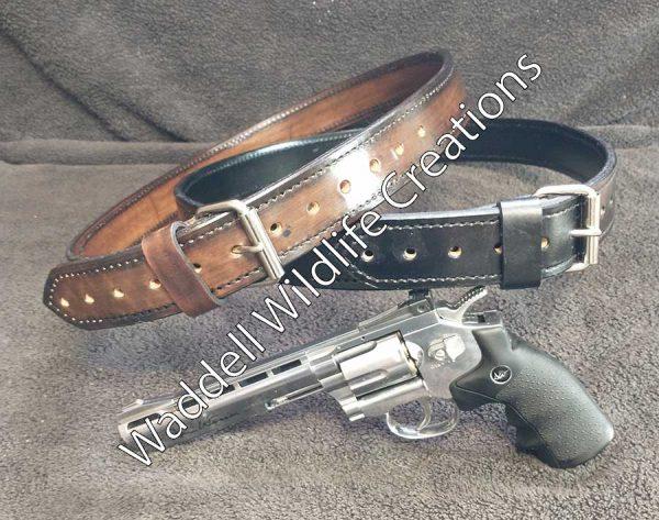 Custom Leather Gun Belt